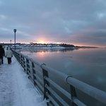 Coucher de soleil au solstice d'hiver