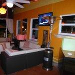 Courtyard lounge area