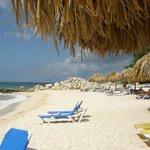 Private beach access at Hilton