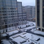 early morning view from room after 1/24/13 snow