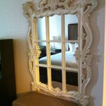 Beautiful mirror hanging in the room