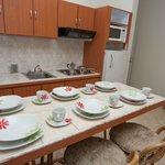 Habitaciones con cocina y utensilios
