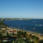 Vista desde nuestra terraza de la playa