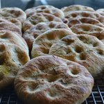 Wood oven fired house made bread