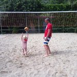 learning volleyball at 2 years!