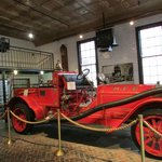 early fire engine on display in Fire House #1