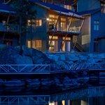 Quarry Bay villa in the evening