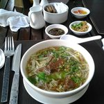 beef noodle soup for breakfast! awesome!!