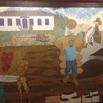 painel de mosaico do hall