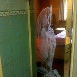 See-through door from/into bathroom