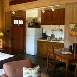 Some cabins have kitchenettes - like Cabin 1/Nature.