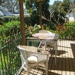 Garden suite deck area