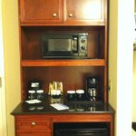 Microwave, Coffee Maker, Mini Fridge