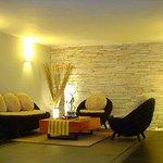 Lobby Rattan Sofa Area