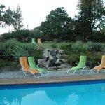 Het zwembad... en de prachtige, goed onderhouden tuin!