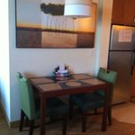 Small dining table in room 308