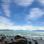 view from the lake Argentino shore