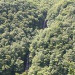3段に分かれている3階の滝