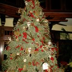 Christmas tree near the lobby