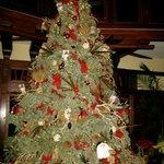 Christmas tree near the lobby
