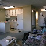 look at kitchen area