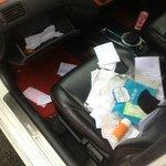 car ransacked