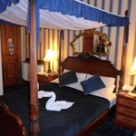Our lovely four poster bed