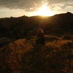 Sunset on the hill above the Dedeli Konak