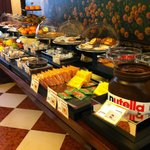 Plenty of food and choices for breakfast