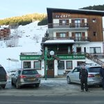 Hotel Le Cret from the road