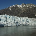 The face of the Margerie Glacier