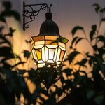Lantern in the courtyard