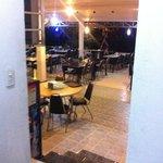 Schöne Terasse als Restaurant und Frühstücksraum