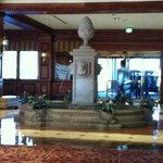 Welcome fountain in main lobby