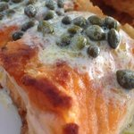 Lemon caper salmon. To die for.