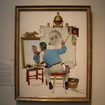 Rockwell's illustration of himself painting a self-portrait