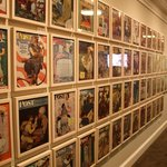 A room of illustrations Rockwell did for Saturday Evening Post