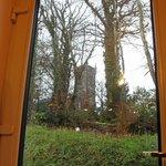 Coach house back door view