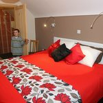 Coach house master bedroom with our Aaron