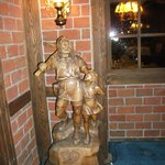 Reception area....wood carving