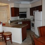 Kitchen in Deluze 2bed 2bath suite (Lakes section)