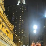 In all it's glory at night, Chrysler building behind, Grand Central next to th
