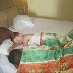 My boys asleep