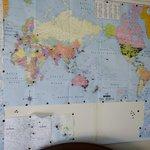 Detalle en mapa de los visitantes de Bellbird