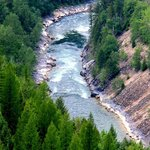 South Fork Flathead River in Flathead National Forest, Montana