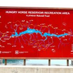 Map on Hungry Horse Dam in Flathead National Forest, Montana