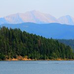 Hungry Horse Reservoir in Flathead National Forest, Montana