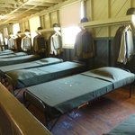 The old bunk house and beds!