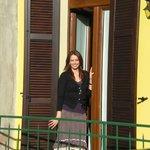 Daniela by our terrace door
