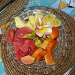 Fruit plate at breakfast